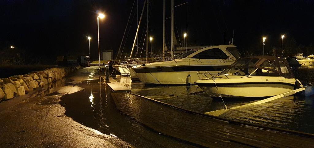 Vannivå i Nyhavn på maks flo.