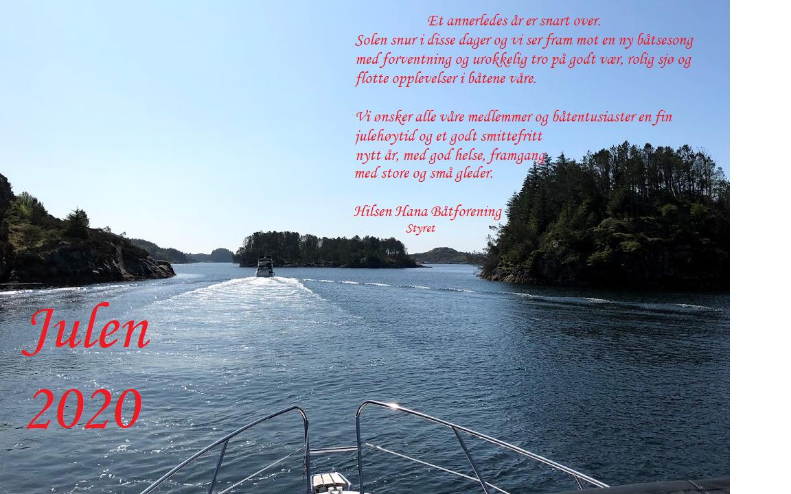 Julehilsen fra styret i Hana båtforening