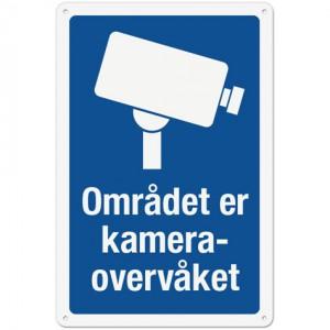 Skilt som viser kameraovervåkning