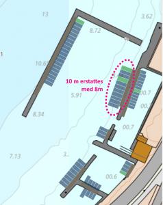 Område som viser hvilke uteriggere som flyttes i Konradden